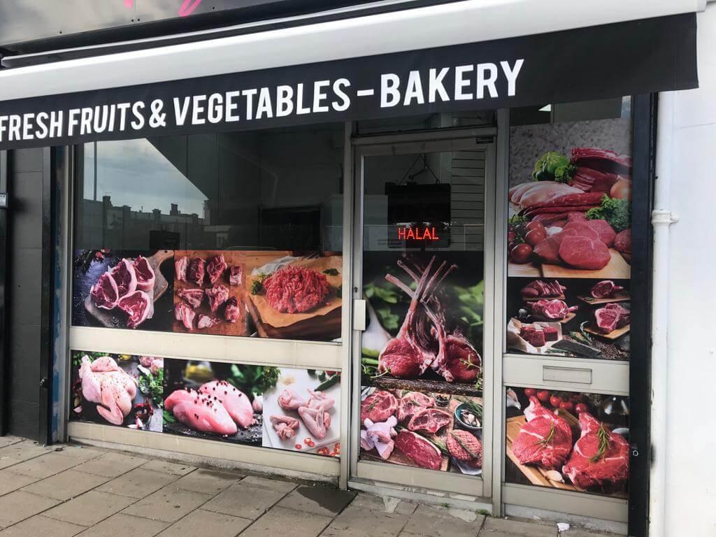 shop front window graphic service