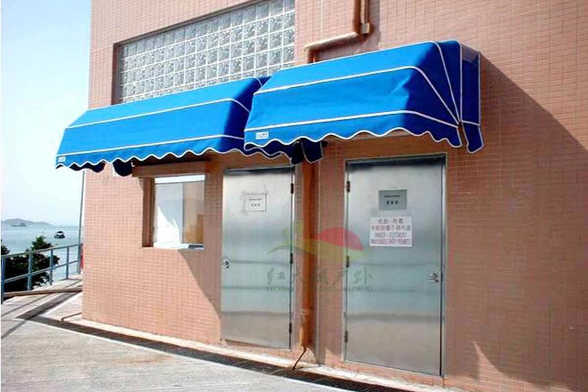 Awning canopy for store doors