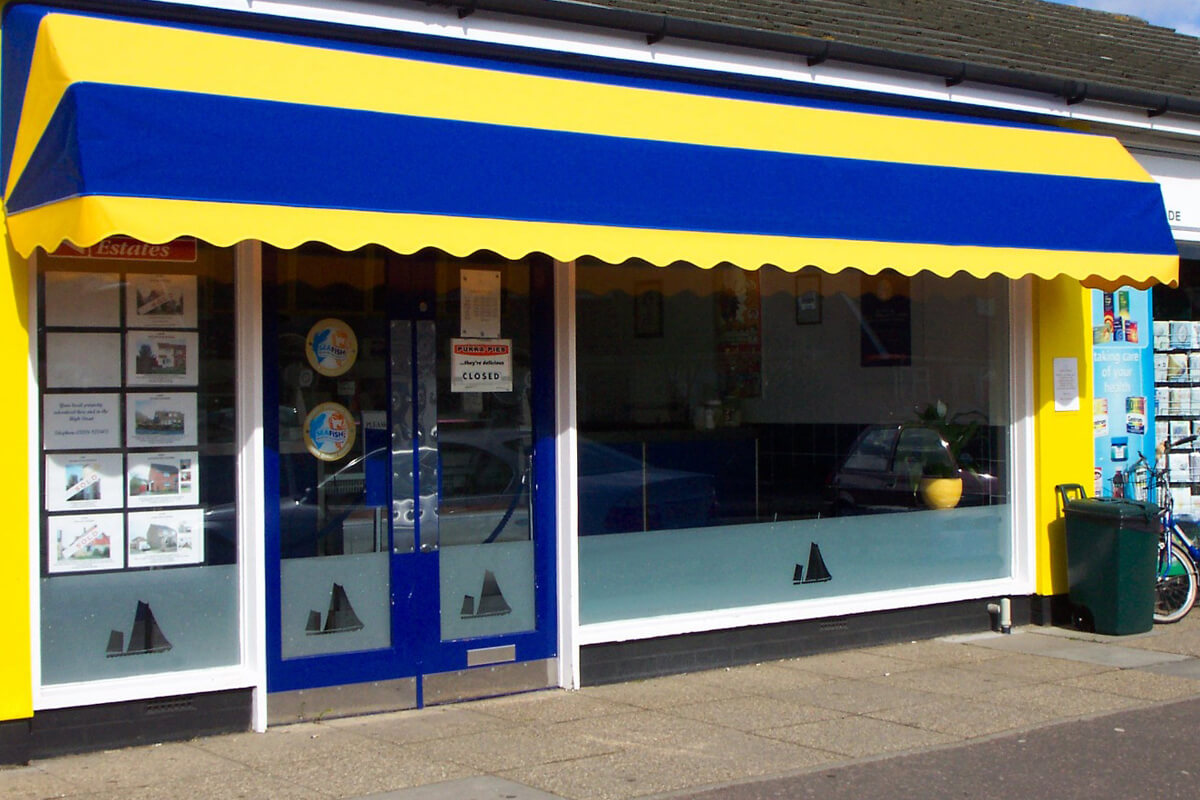 awning door canopy for shop