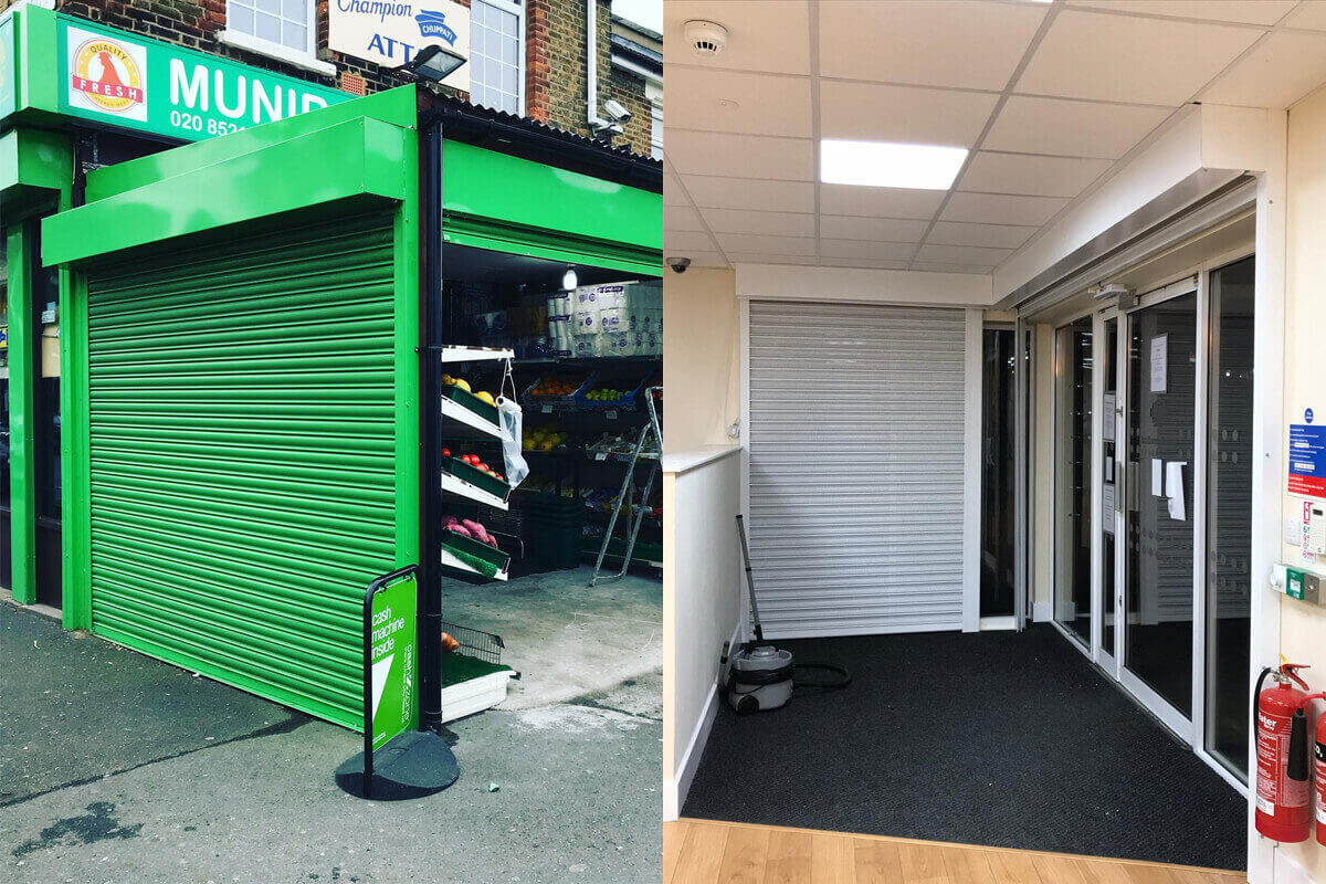 shop front and shutters